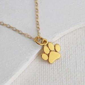 New cute Dog Footprint necklace
